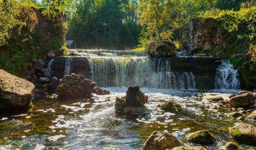 картинка болото Ельня и водопад Вята